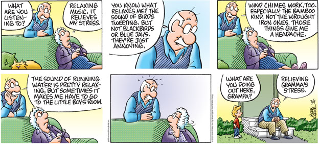 Comic Strip Brian Crane  Pickles 2010-07-04 grandpa