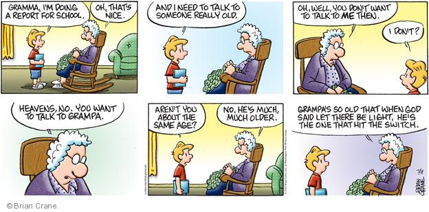 Comic Strip Brian Crane  Pickles 2010-07-11 grandpa