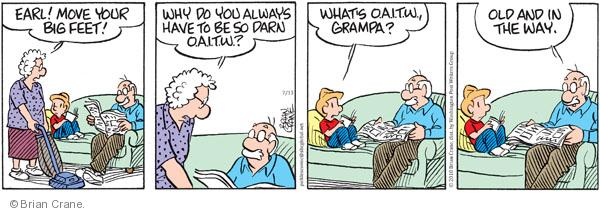 Comic Strip Brian Crane  Pickles 2010-07-13 acronym abbreviation