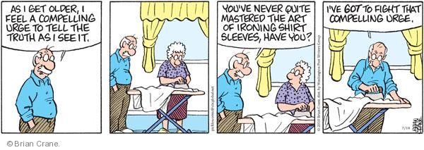 Comic Strip Brian Crane  Pickles 2010-07-14 senior citizen