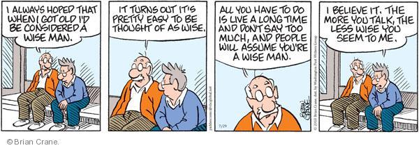Comic Strip Brian Crane  Pickles 2010-07-29 senior citizen