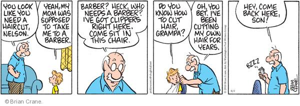 Comic Strip Brian Crane  Pickles 2010-08-02 grandpa