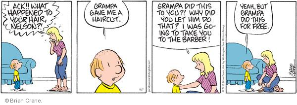 Comic Strip Brian Crane  Pickles 2010-08-07 grandpa