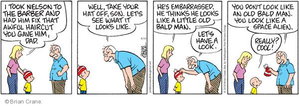 Comic Strip Brian Crane  Pickles 2010-08-10 grandson