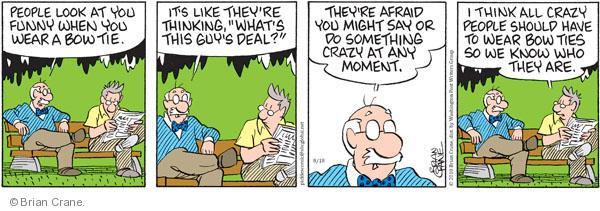 Comic Strip Brian Crane  Pickles 2010-08-18 tie
