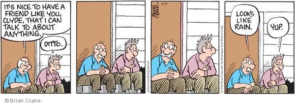Comic Strip Brian Crane  Pickles 2010-08-19 senior citizen