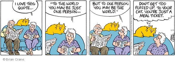Comic Strip Brian Crane  Pickles 2010-08-20 love