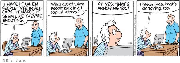 Comic Strip Brian Crane  Pickles 2010-08-21 shout