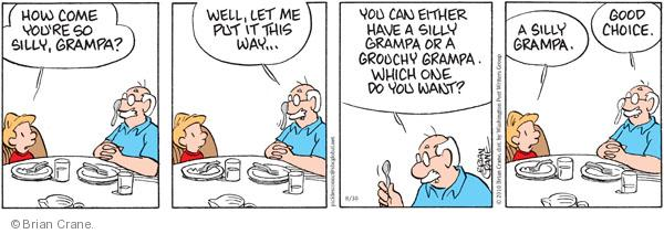 Comic Strip Brian Crane  Pickles 2010-08-30 grandpa