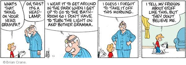 Cartoonist Brian Crane  Pickles 2010-09-01 turn it off