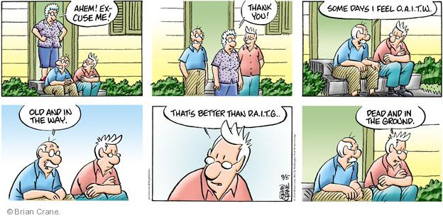 Comic Strip Brian Crane  Pickles 2010-09-05 acronym abbreviation