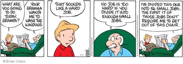 Cartoonist Brian Crane  Pickles 2010-08-23 honey