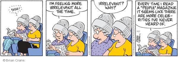 Comic Strip Brian Crane  Pickles 2010-08-27 senior citizen