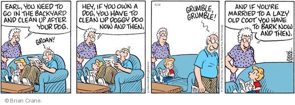 Comic Strip Brian Crane  Pickles 2010-08-28 doo