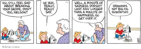 Comic Strip Brian Crane  Pickles 2010-09-16 sympathy