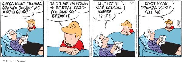 Comic Strip Brian Crane  Pickles 2010-09-17 careful