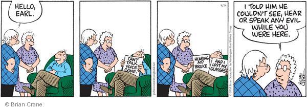 Comic Strip Brian Crane  Pickles 2010-09-24 sight
