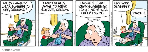 Comic Strip Brian Crane  Pickles 2010-10-23 grandmother