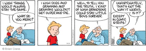 Comic Strip Brian Crane  Pickles 2010-10-26 grandpa