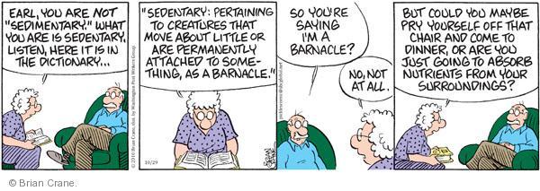 Comic Strip Brian Crane  Pickles 2010-10-29 creature