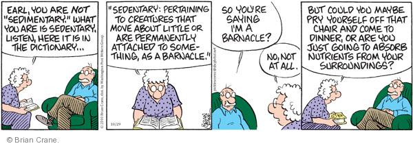 Comic Strip Brian Crane  Pickles 2010-10-29 motivation