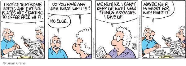 Comic Strip Brian Crane  Pickles 2010-11-03 senior citizen