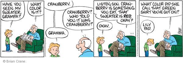 Cartoonist Brian Crane  Pickles 2010-11-04 pad
