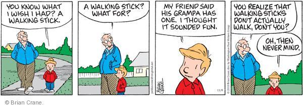 Comic Strip Brian Crane  Pickles 2010-11-08 purpose