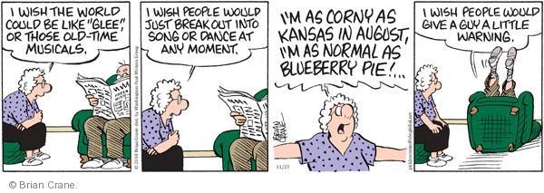 Comic Strip Brian Crane  Pickles 2010-11-23 warn