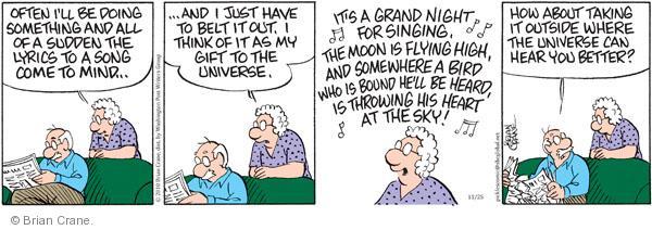 Comic Strip Brian Crane  Pickles 2010-11-25 universe