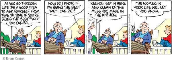 Comic Strip Brian Crane  Pickles 2010-11-30 advice