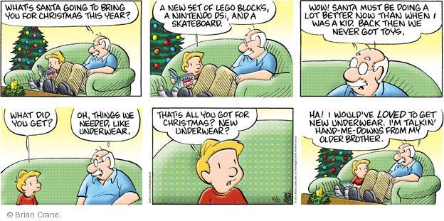 Comic Strip Brian Crane  Pickles 2010-12-12 Santa Claus
