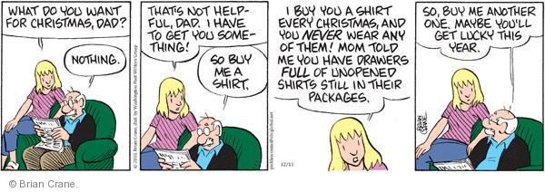 Comic Strip Brian Crane  Pickles 2010-12-13 mom