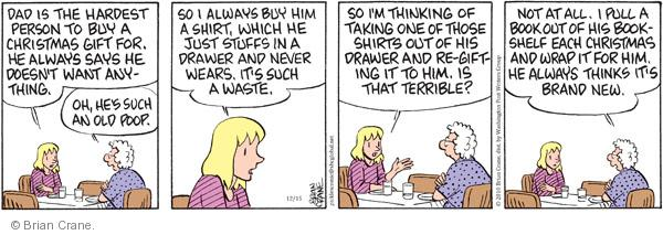 Comic Strip Brian Crane  Pickles 2010-12-15 new shirt