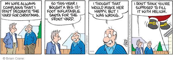 Comic Strip Brian Crane  Pickles 2010-12-22 wife