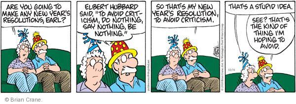 Comic Strip Brian Crane  Pickles 2010-12-31 seasonal