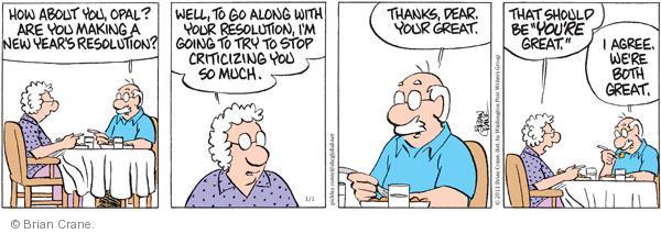 Comic Strip Brian Crane  Pickles 2011-01-01 seasonal