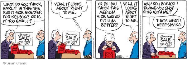 Comic Strip Brian Crane  Pickles 2011-01-03 agree