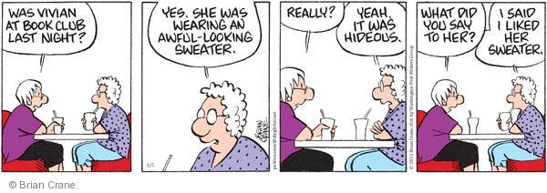 Comic Strip Brian Crane  Pickles 2011-01-05 Vivian