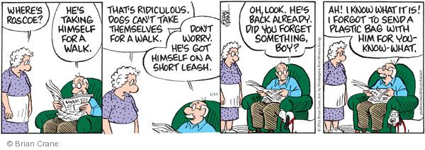 Comic Strip Brian Crane  Pickles 2011-01-14 owner