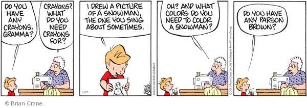 Comic Strip Brian Crane  Pickles 2011-01-27 grandchild
