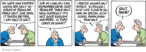 Comic Strip Brian Crane  Pickles 2011-02-04 crazy