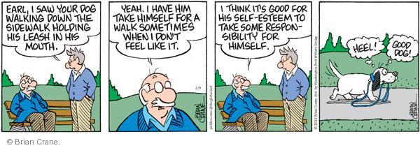 Comic Strip Brian Crane  Pickles 2011-02-09 responsibility