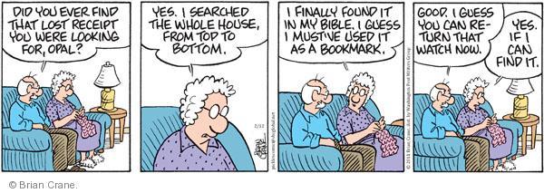 Comic Strip Brian Crane  Pickles 2011-02-12 husband