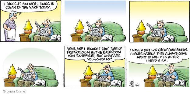 Comic Strip Brian Crane  Pickles 2011-02-13 ten minutes