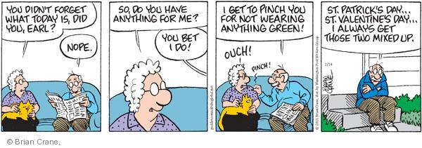Comic Strip Brian Crane  Pickles 2011-02-14 Valentine's Day