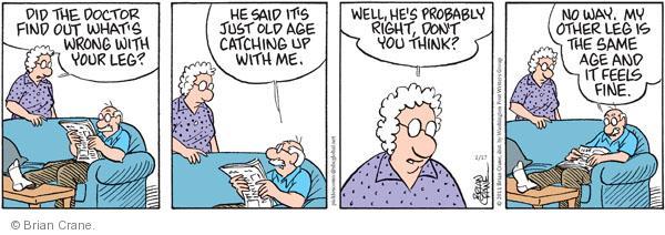 Comic Strip Brian Crane  Pickles 2011-02-17 catch