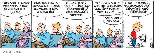 Comic Strip Brian Crane  Pickles 2011-02-23 discussion