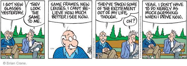 Comic Strip Brian Crane  Pickles 2011-02-26 sight