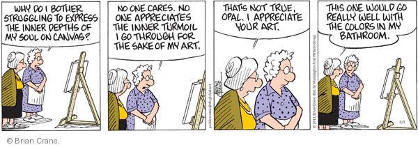 Comic Strip Brian Crane  Pickles 2011-03-03 artistic